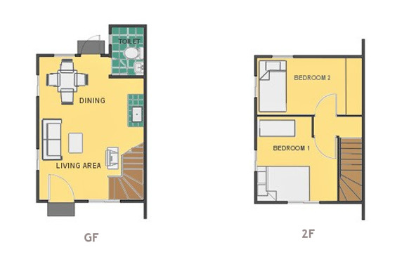 Mikaela Floor Plan House and Lot in San Vicente