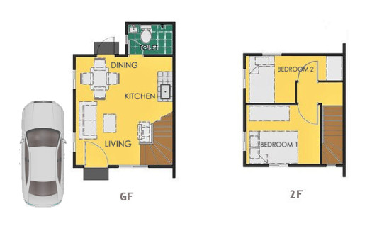Reva Floor Plan House and Lot in San Vicente