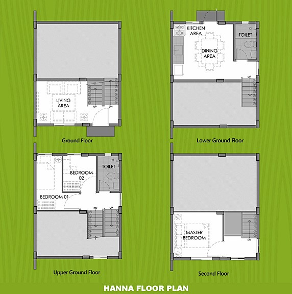 Hanna Floor Plan House and Lot in San Vicente
