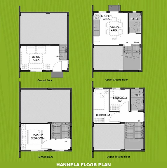 Hannela Floor Plan House and Lot in San Vicente