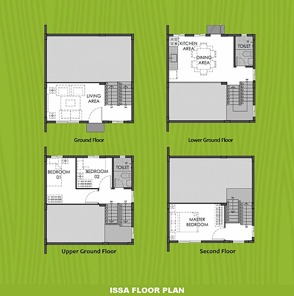 Issa Floor Plan House and Lot in San Vicente