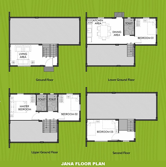 Janna Floor Plan House and Lot in San Vicente