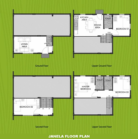 Janela Floor Plan House and Lot in San Vicente