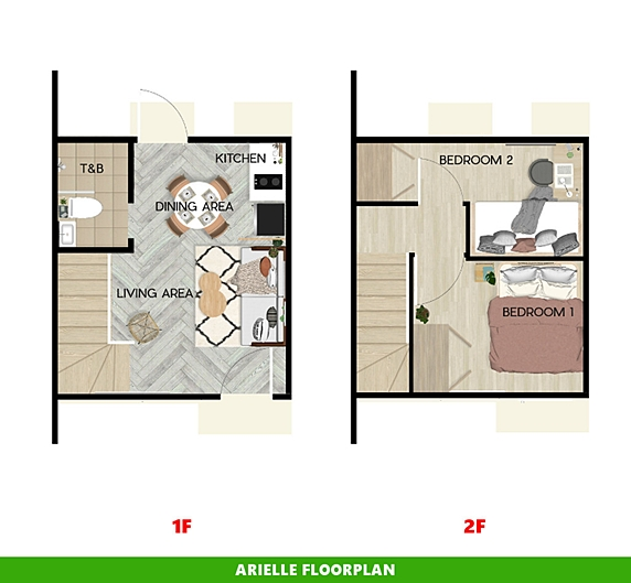 Arielle Floor Plan House and Lot in San Vicente