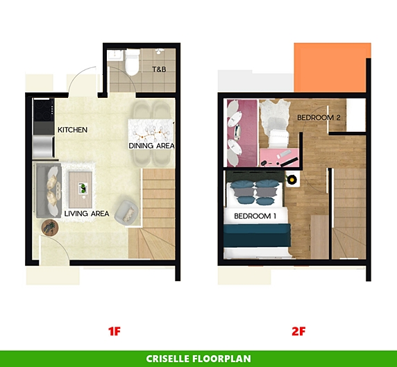 Criselle Floor Plan House and Lot in San Vicente