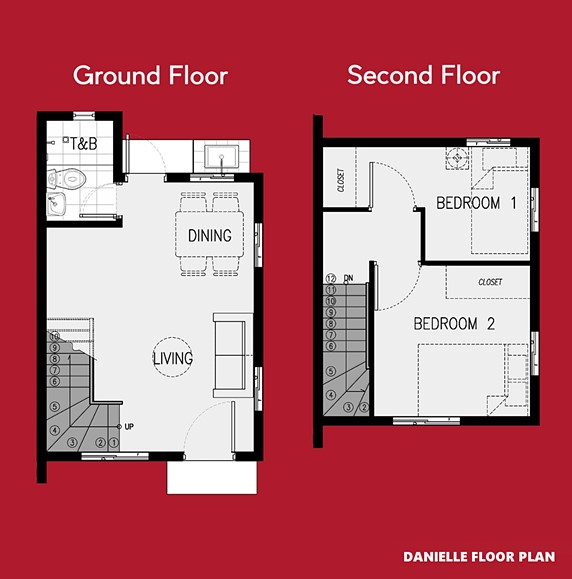 Danielle Floor Plan House and Lot in San Vicente
