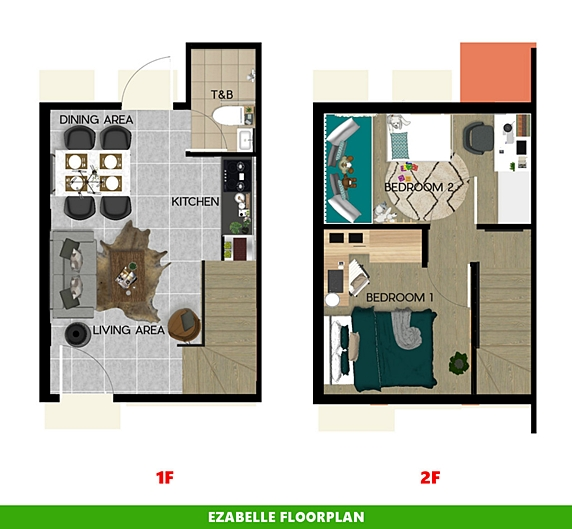 Ezabelle Floor Plan House and Lot in San Vicente