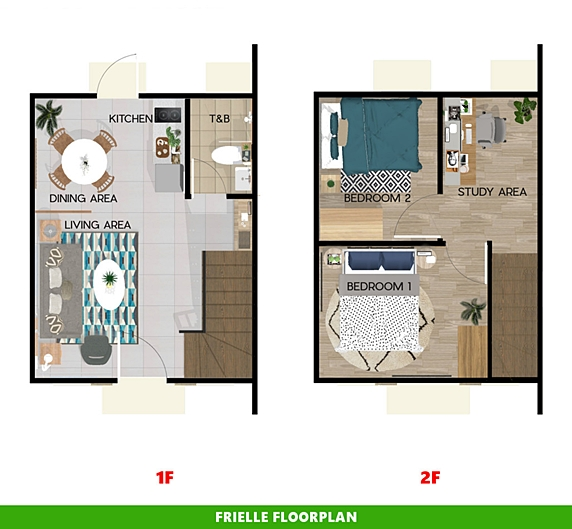 Frielle Floor Plan House and Lot in San Vicente